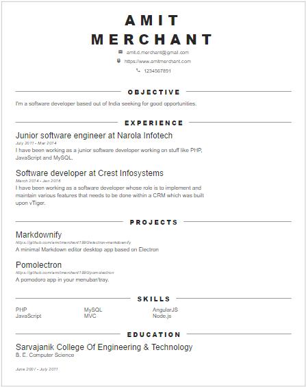 image caption - Angular Js Resume
